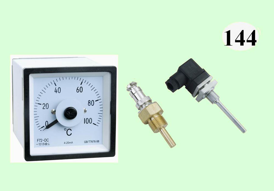 F72-DC温度表,配Pt100温度传感器